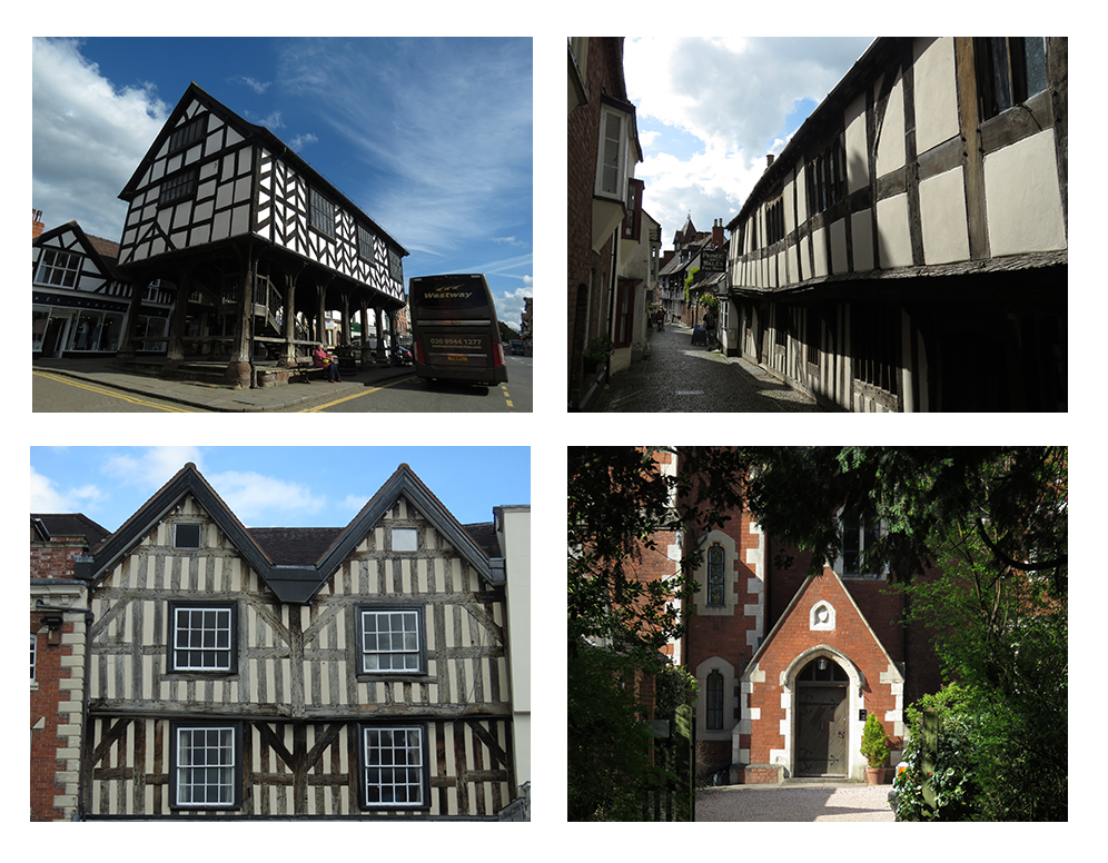 Views of the historic architecture from around Ledbury, England